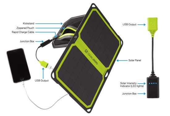 Nomad 7 Plus Solar Panel Blk 11803 - iPhone Charging 2