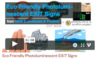 LumAware Video Pic - Eco Friendly Photoluminescent Exit Signs