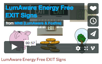 LumAware Video Pic - Energy Free Exit Signs