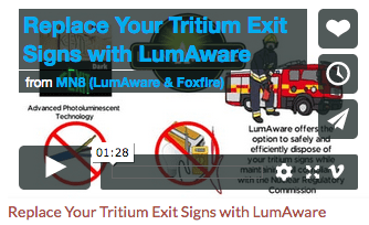 LumAware Video Pic - Replace Your Tritium Exit Signs with LumAware
