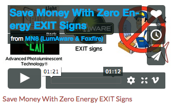 LumAware Video Pic - Save Money with Zero Energy Exit Signs