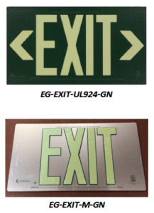UL Listed Metal Exit Signs