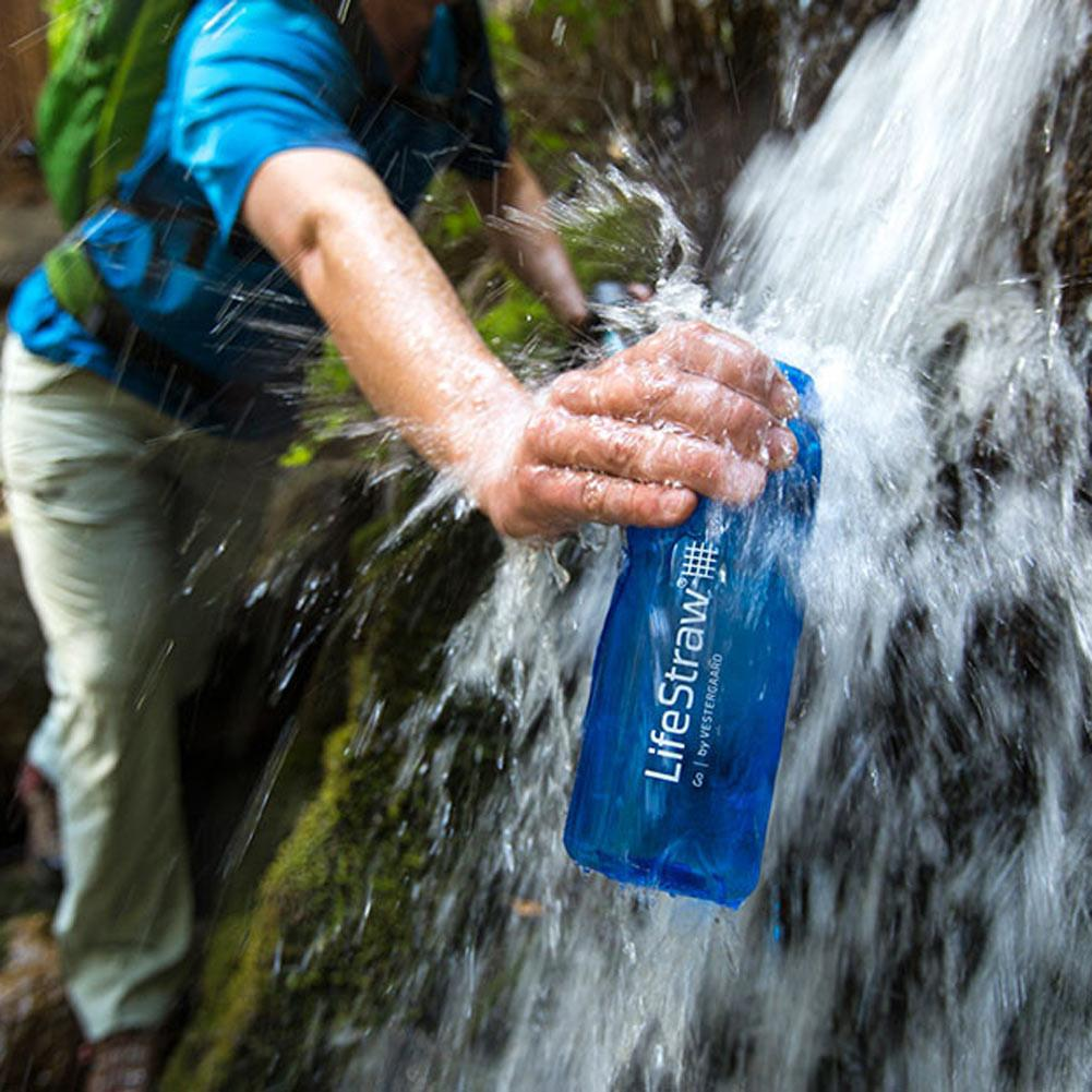 LifeStraw Go - Blue Botle Under Waterfall