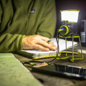 Lighthouse Mini Lantern - Charging Phone on Table