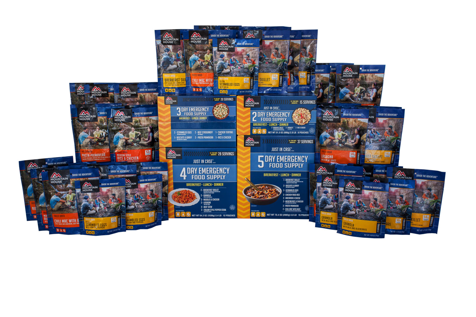 Mountaian House 14 Day Emergency Food Kit with Pouches