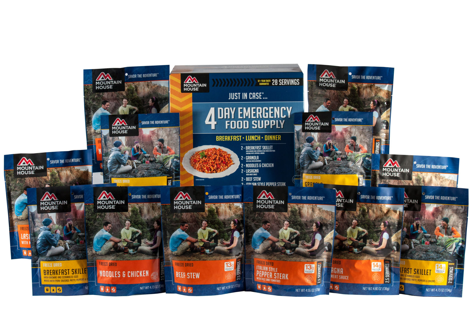 Mountain House 4 Day Emergency Food Kit with Pouches