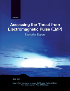 2017 Assessing the Threat from Electromagnetic Pulse (EMP) Exec Report - Cover Image
