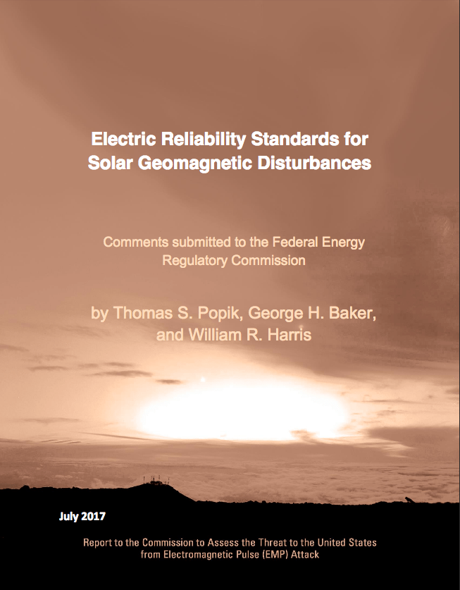 2017 Electric Reliability Standards for Solar Geomagnetic Disturbances - Cover Image