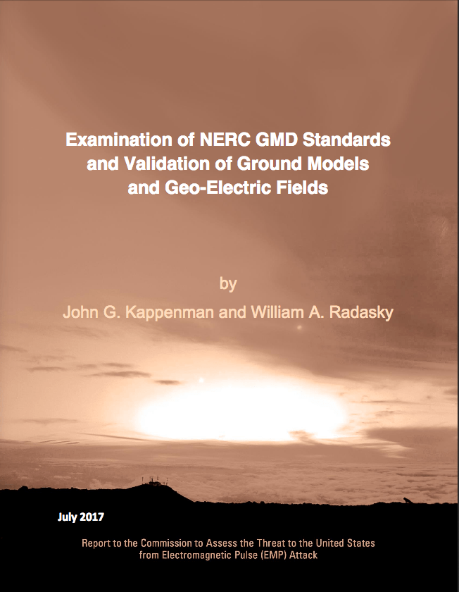2017 Examination of NERC GMD Standards and Validation of Ground Models and Geo-Electric Fields - Cover Image
