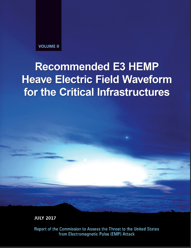 2017 Recommended E3 HEMP Heave Electric Field Waveform for the Critical Infrastructures - Cover Image