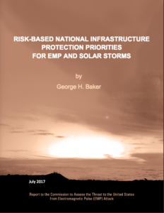 2017 - Baker - Risk-Based National Infrastructure Protection Priorities for EMP and Solar Storms - Cover Image