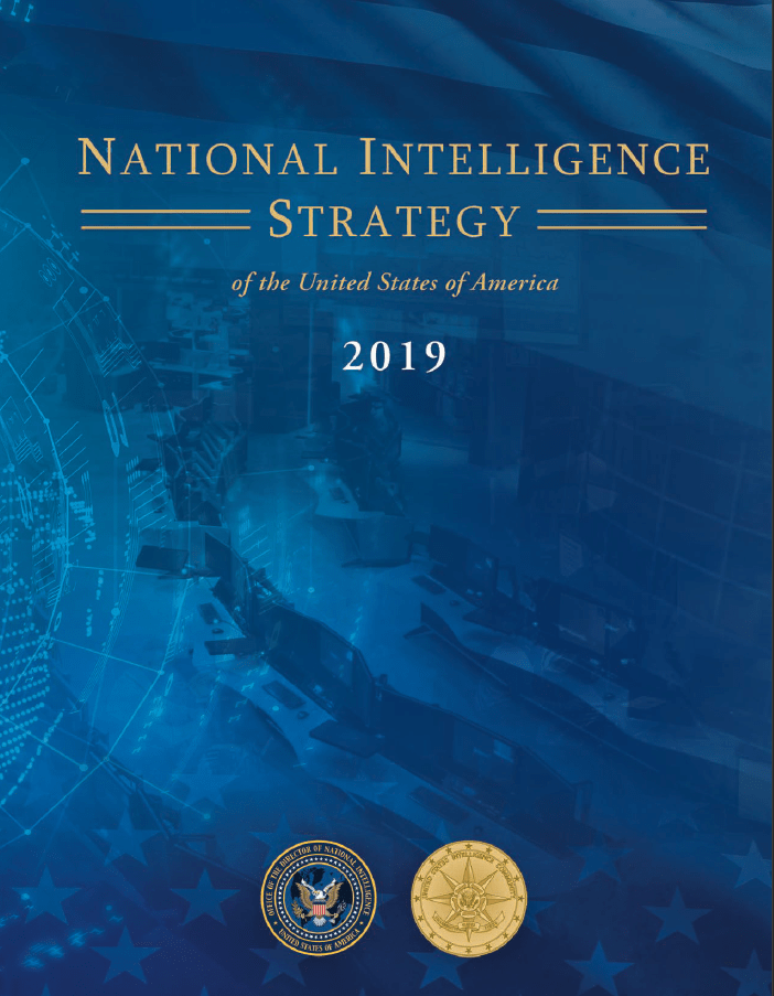 2019 National Intelligence Strategy - Cover Image