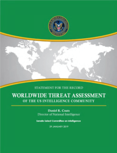 2019 Worldwide Threat Assessment - Cover Image