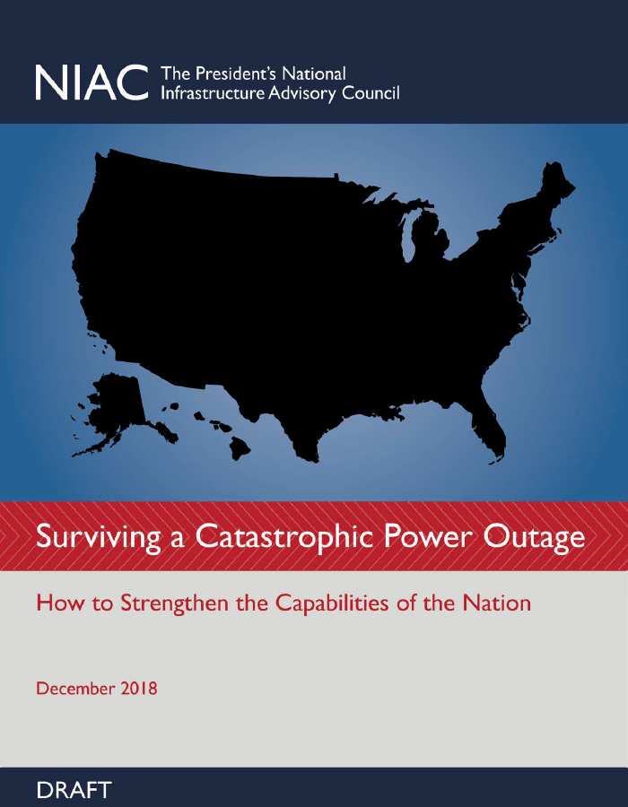 2018 - NIAC - Surviving a Catastrophic Power Outage