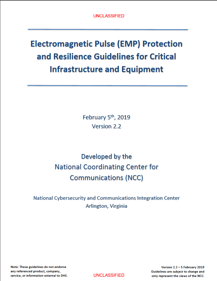 2019 - NCC - EMP Protection and Resilience Guidelines